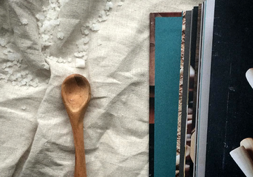 NATURKINDER: Carved Salt Spoon from Drift Wood