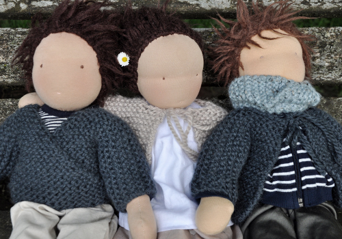 NATURKINDER: Doll Wrap Sweater and Jacket