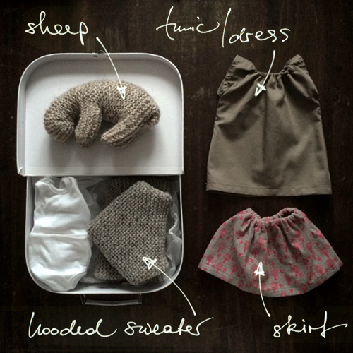 NATURKINDER: Doll Wardrobe, knit and sewn