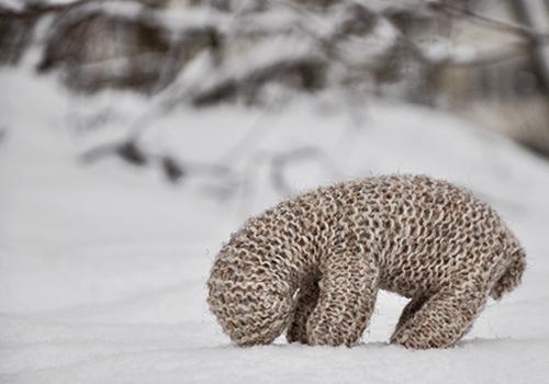 NATURKINDER: Schafe im Schnee (Waldorf Inspiriertes Strickschaf)