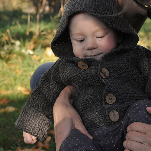 NATURKINDER: Baby Kapuzen Janker Strickanleitung ... Hooded Sweater Knitting Pattern