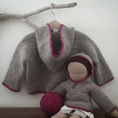 NATURKINDER: Hooded Sweater | Baby and Doll Size