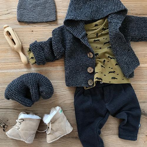 NATURKINDER: Jacket, Hat, Sheep > NATURKINDER PATTERN • Rattle > Carved ♥ ♥ ♥