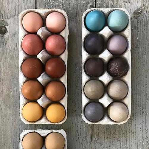 Ostereier Mit Naturfarben Farben