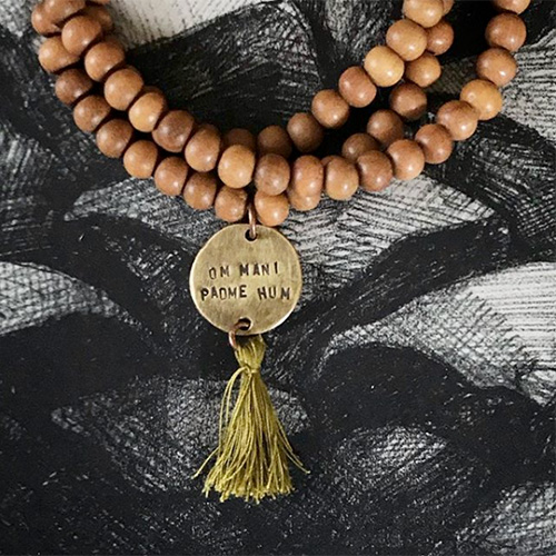 NATURKINDER: MALA Necklace with Mantra | OM MANI PADME HUM